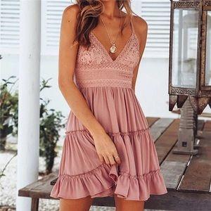 Bohemian Crochet Summer Dress